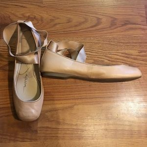 Jessica Simpson Soft Pink Leather Ballerina Shoes
